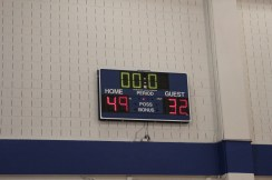 The final score, Olympians 49 - Faculty 32