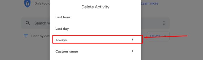 How to delete payment history from google pay
