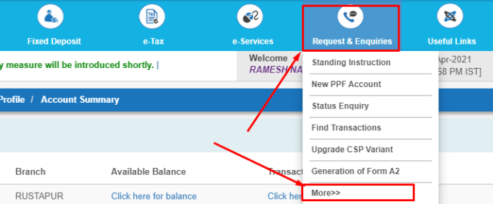 How to extend PPF account in sbi online