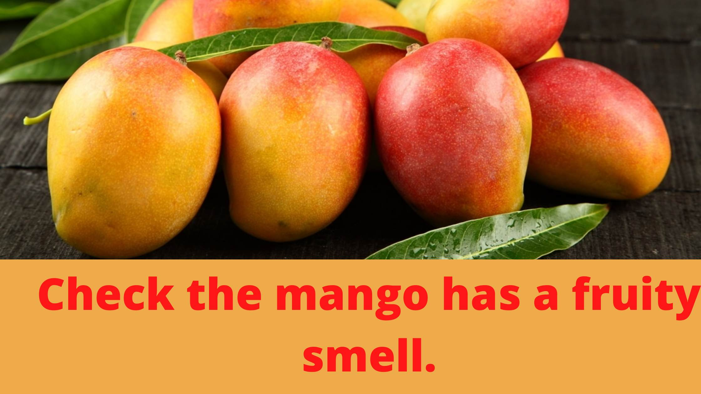 How to tell if mangos are ripe