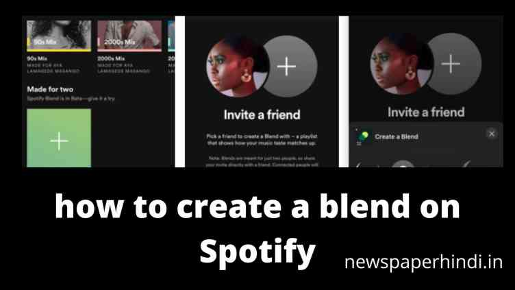 how to create a blend on Spotify