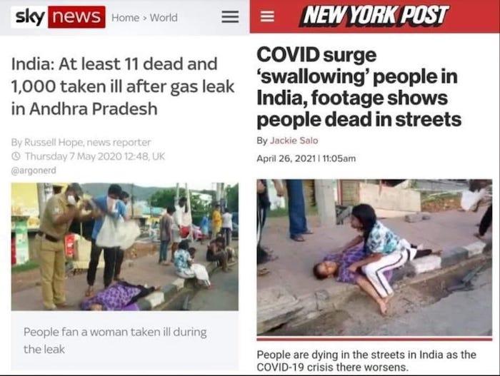 Sky News + New York Post India gas leak + Covid surge