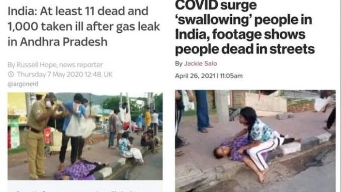 Sky News + New York Post India gas leak + Covid surge