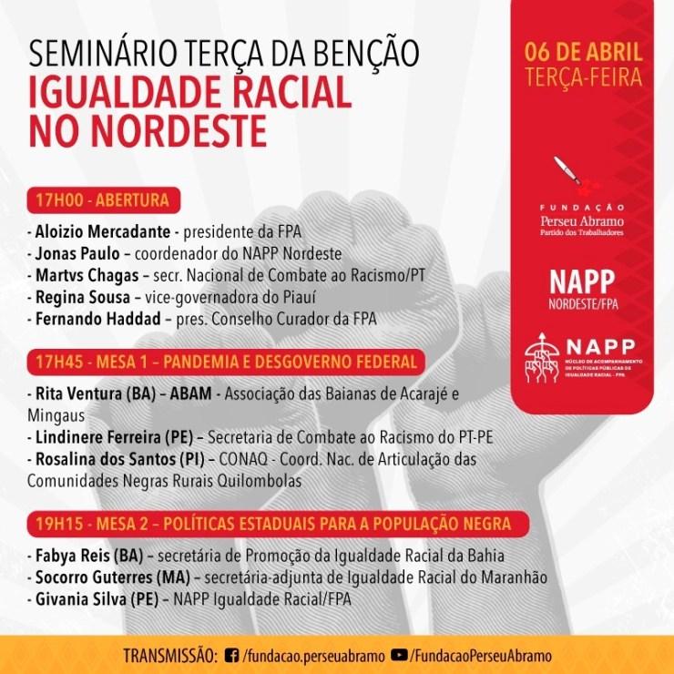Regina Sousa participa de seminário de Igualdade Racial no Nordeste