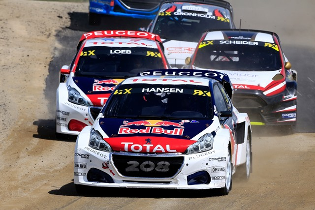 Os PEUGEOT 208 WRX no jubileu do Ralicross