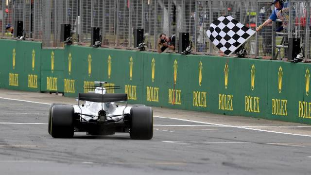 Tabela classificativa da F1 ao rubro