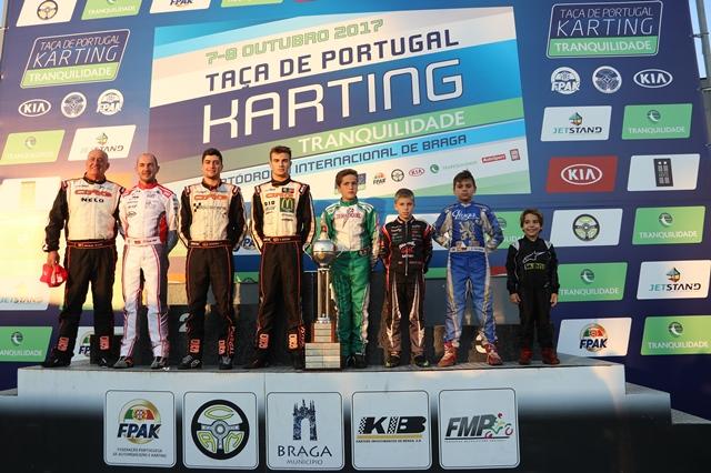 Conheça os vencedores da Taça de Portugal de Karting 2017