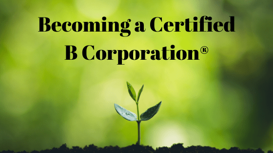 Becoming Certified B Corporation® – What I have learned