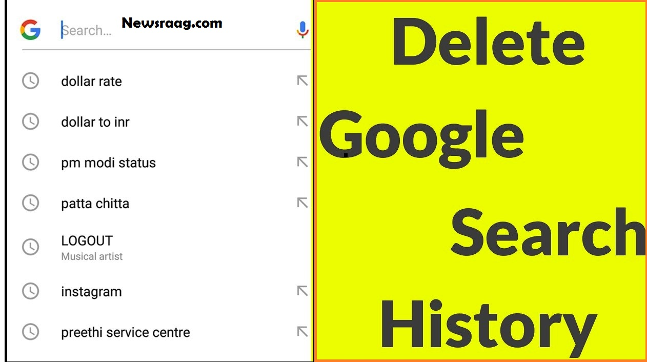 How to Delete search History on Google