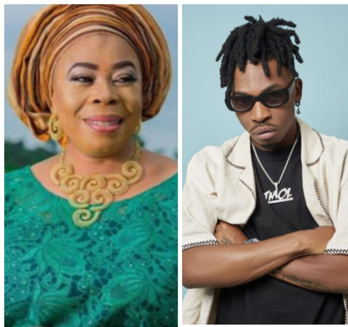 See What Toyin Adewale Said About Her Son Mayorkun