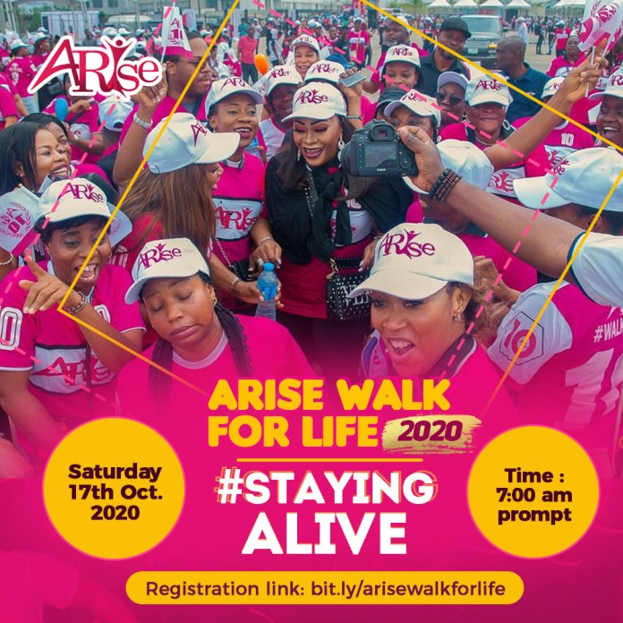 Siju Iluyomade, DJ Cuppy, Nathaniel Bassey, Others Set For 2020 'Arise Walk For Life'