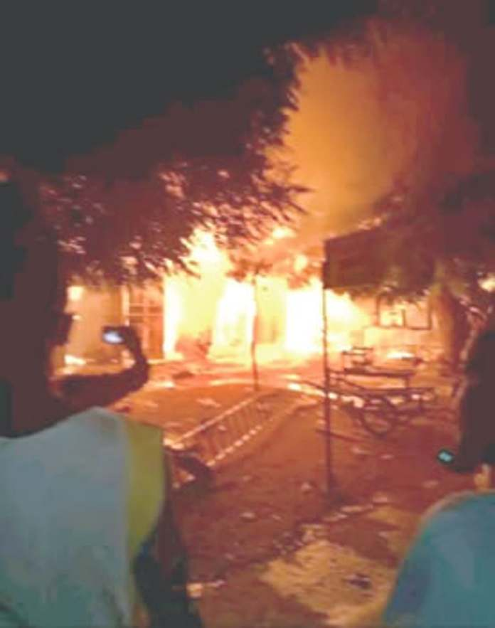 ENDSARS: Angry Youths Set SARS Office On Fire