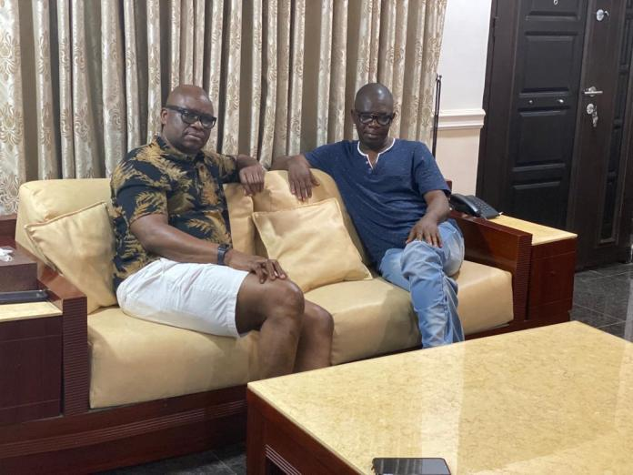 Fayose Meets Agboola Ajayi In Ekiti, Urges Him To Return To PDP