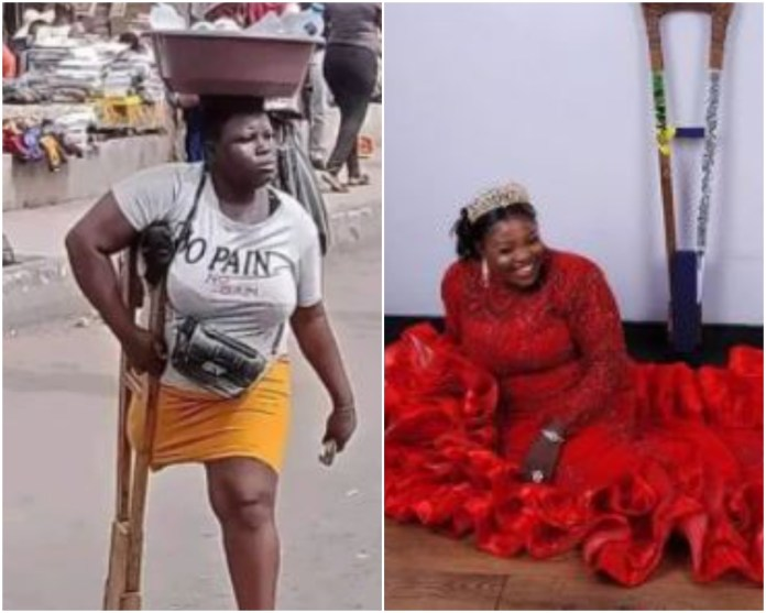 Lagos Amputee Hawker has been 'Arrested' For Allegedly Faking Her Story.