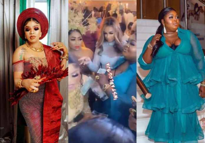 See Video Of Moment Eniola Badmus Fights Dirty With Guest At Bobrisky's 30th Birthday