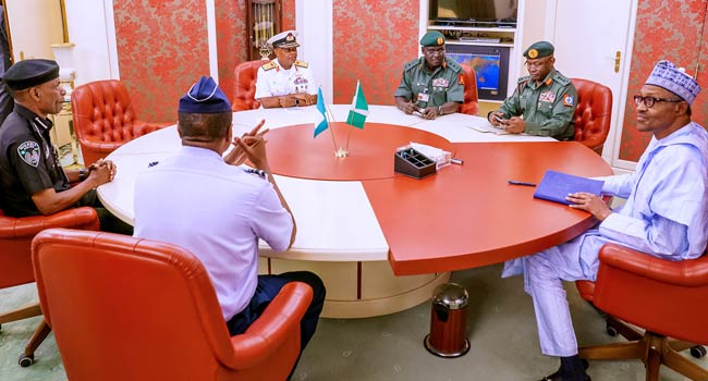 See Complete Details Of President Buhari Meeting With Service Chiefs(Read Here)