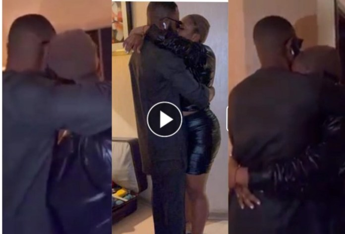 #BBNaija: See Video Of Moment Tega Reunited With Her Husband After Eviction