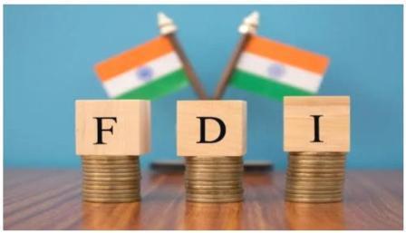 अमेरिका भारतातील FDI चा दुसरा मोठा स्त्रोत बनला आहे आणि मॉरिशसला तिसर्या स्थानावर टाकले आहे. यामध्ये सिंगापूर पहिल्या स्थानावर