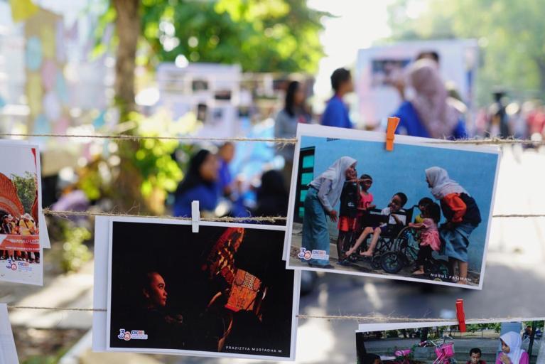 Ratusan Karya  Forum Anak Surakarta Dipamerkan Di Ajang CFD