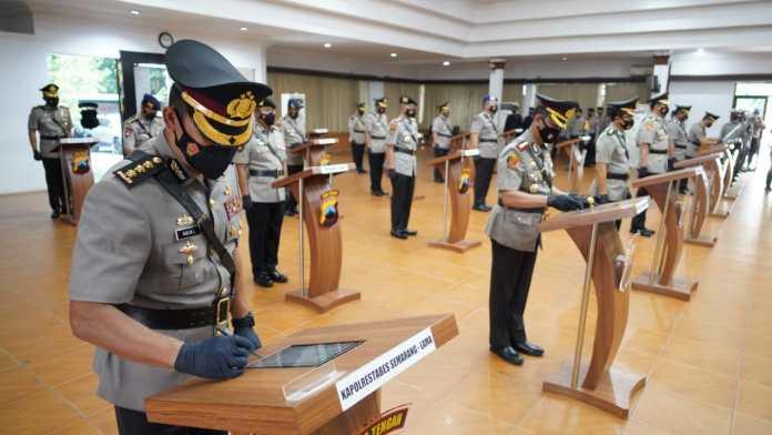 6 Pejabat Utama Polda dan 4 Kapolres Alih Tugas
