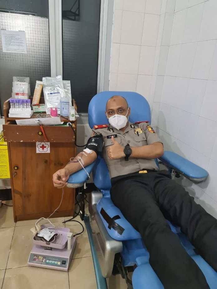 Serdik Sespimmen Sumbangkan Darahnya bagi Orang Lain