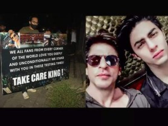 fans outside mannat house to support aryan khan