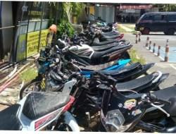 Polres Sampang AmankanTujuh Kendaraan Pelaku Balap Liar