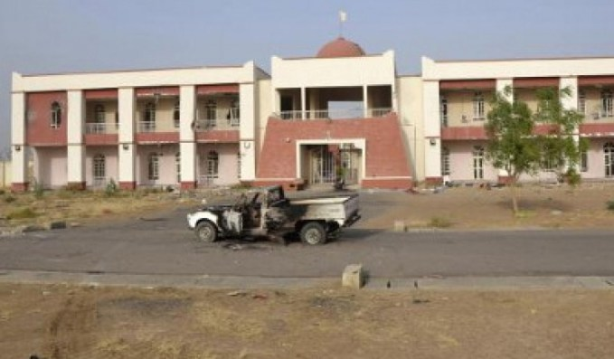 Boko Haram command and control mansion in Dikwa where Chadian troops defeated the terrorists