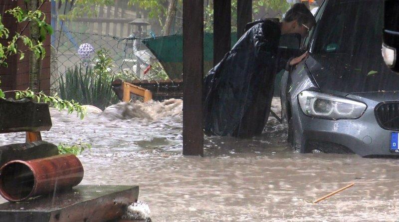 Ploaia torențială face ravagii în mai multe landuri din Germania