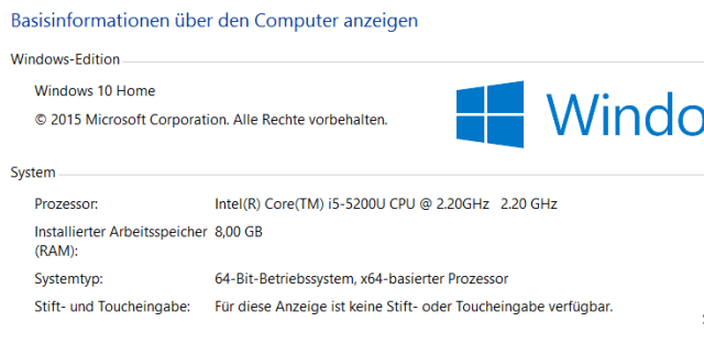 Windows 10 Computer Info