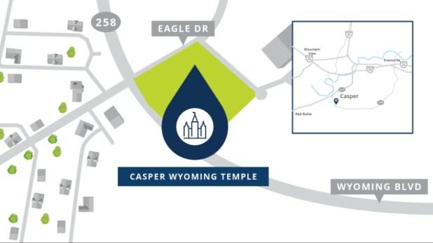 Casper-Wyoming-Temple-Location-Map