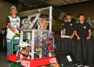 A robot from last year's Alamo FIRST competition, sponsored by Rackspace.