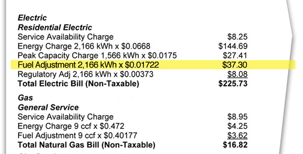 (Image) CPS Energy will now break down the fuel adjustment charge on its web site every month.