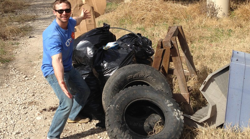 (Image) CPS Energy Employee, creek clean up