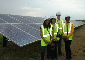 Interns at Blue Wing Solar Farm geared up with their personal protective equipment.