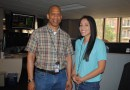 (Image) CPS Energy mentor Arthur Butcher and UTSA student Tania Hernandez