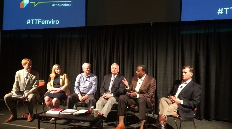 (Image) CEO Doyle Beneby joins lawmakers and regulators at the Texas Tribune Festival.