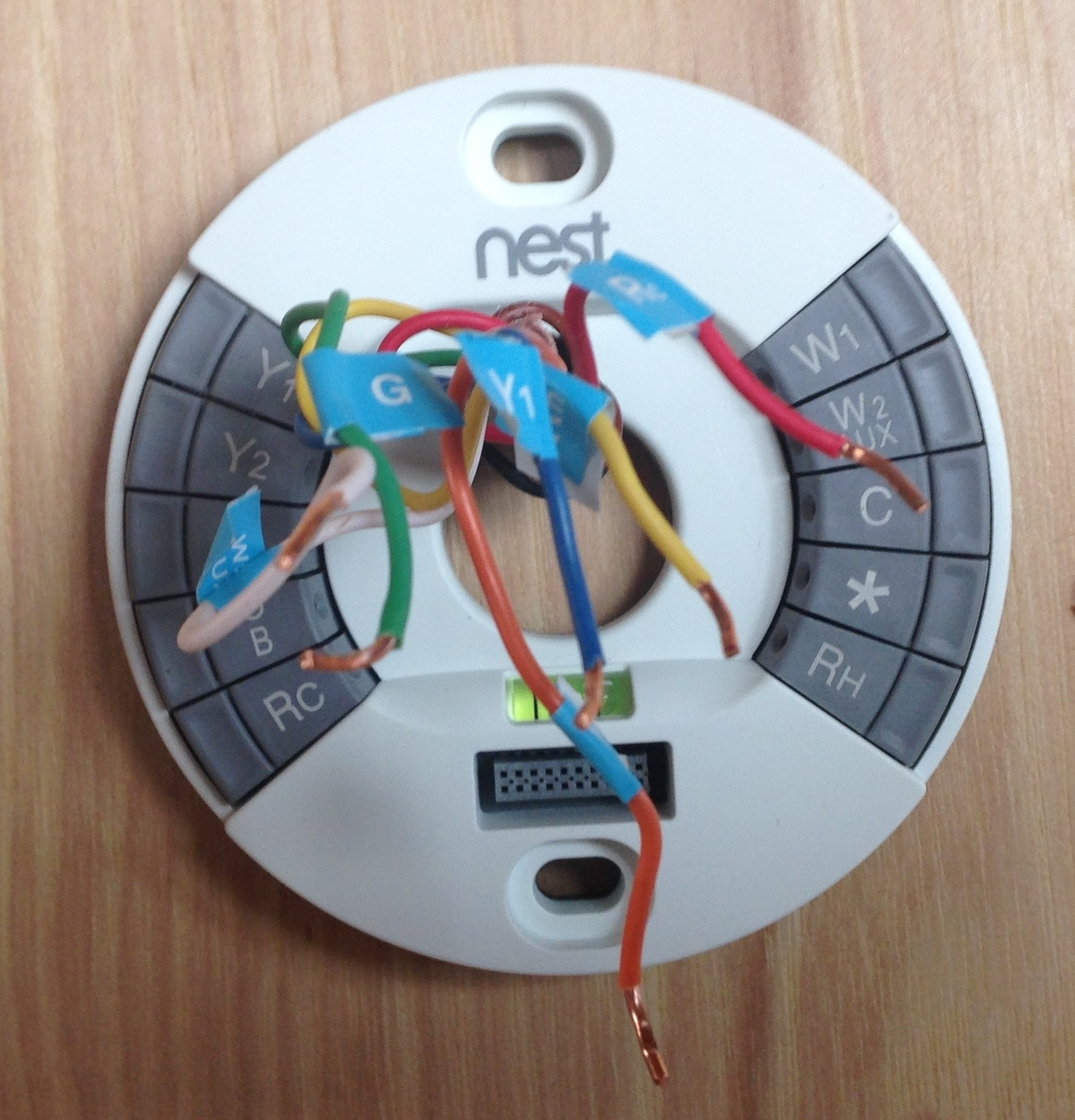 The Good Looking Nest Thermostat Saves You Money Wiring Why Is My Not Working With A C Home Install Video Above Shows How To Label
