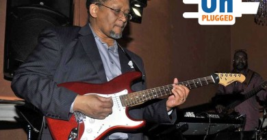 (Image) Chris Knox plays guitar for two jazz bands and performs frequently around San Antonio.