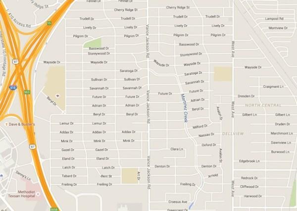 estimation area map