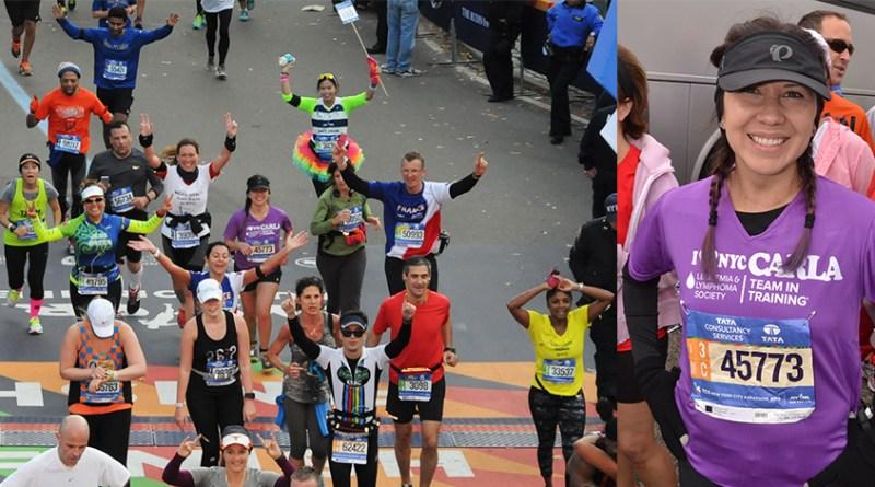 (Image) Carla de la Chapa finishing the New York City Marathon