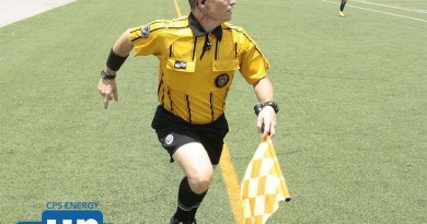 (Image) Lane Burris referees soccer games all over Texas.