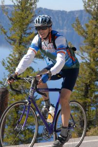 Cryer has cycled many times through the Great Northwest and other challenging areas.