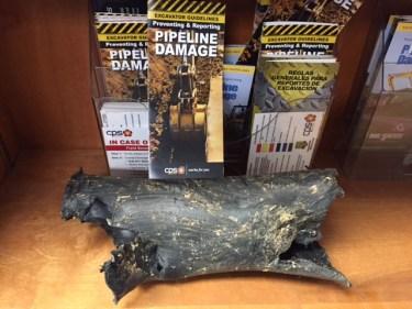 damaged gas pipe