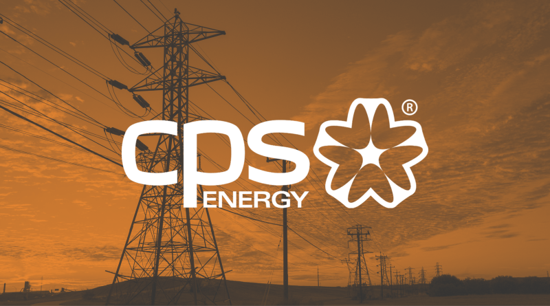CPS Energy logo against orange background