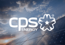 CPS Energy Logo with a modern backdrop