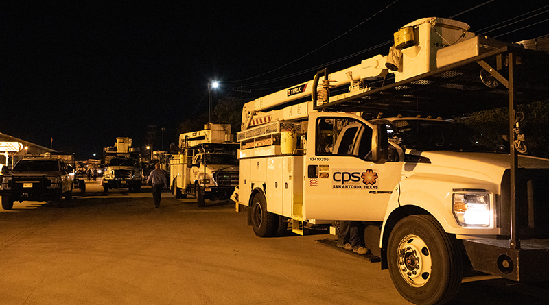 (Image) CPS Energy is sending 65 team members to Florida to help restore power outages that are anticipated from the impact of Hurricane Dorian