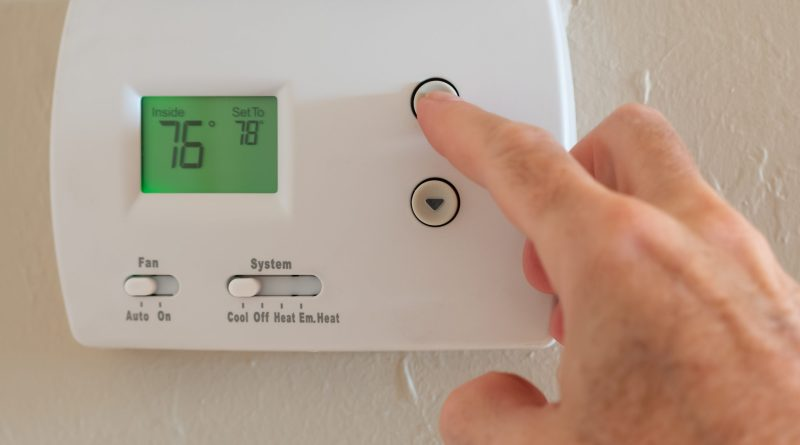adjusting thermostat for cooler weather