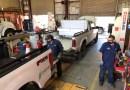 CPS Energy Hybrid trucks getting serviced