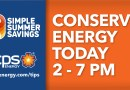 Energy conservation alert graphic